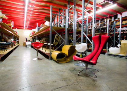 View of objects in storage at the Museums Discovery Centre