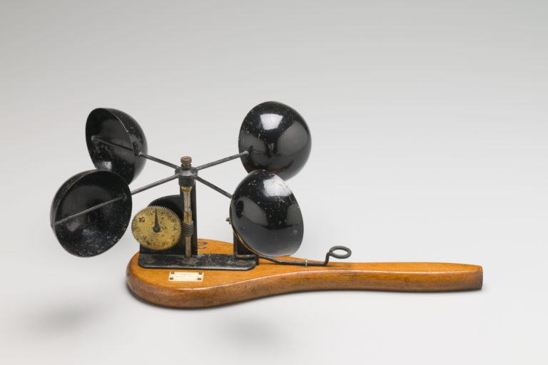 Hand held Robinson's anemometer used by Sydney Observatory, made by J Hicks, London, England, 1875-1885, Collection: MAAS, H10038