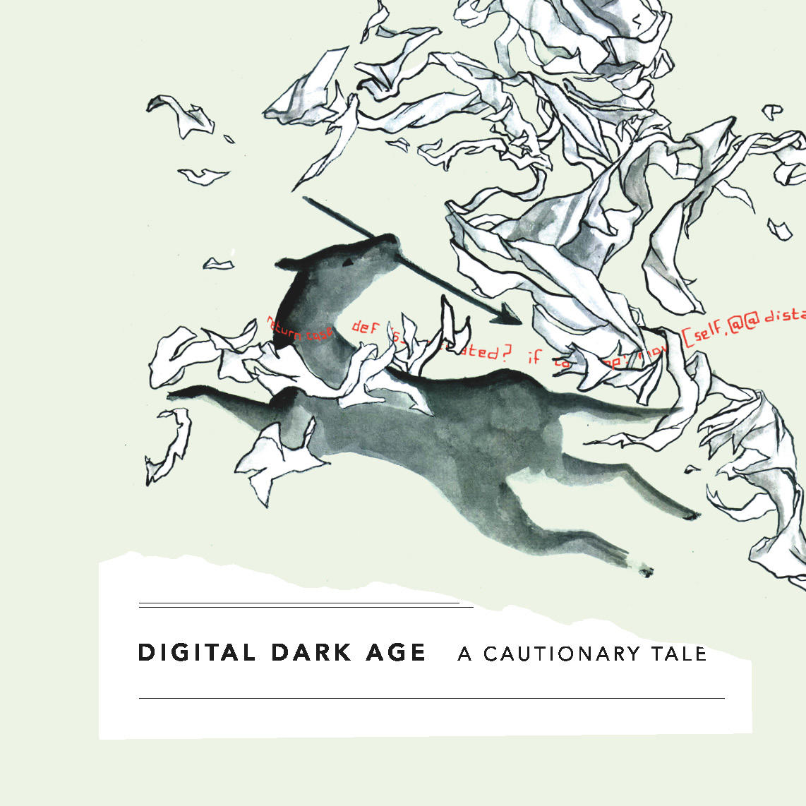 Book cover, Digital Dark Age: A Cautionary Tale.