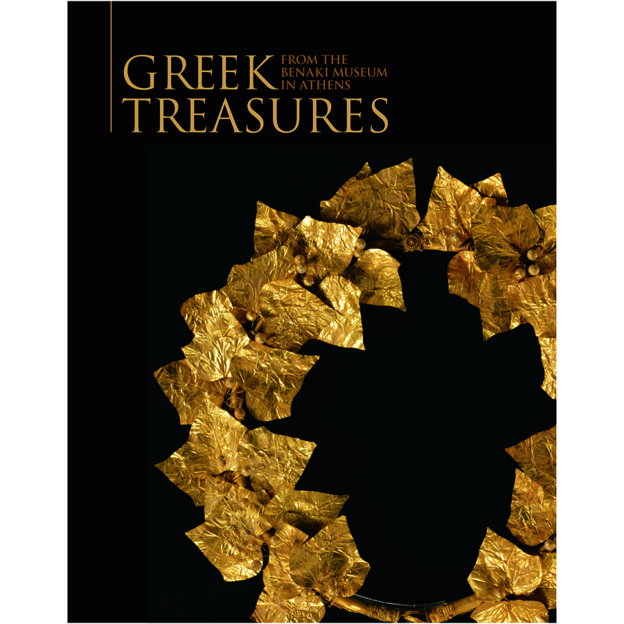 Book cover, Greek Treasures: From the Benaki Museum in Athens by Electra Georgoula.