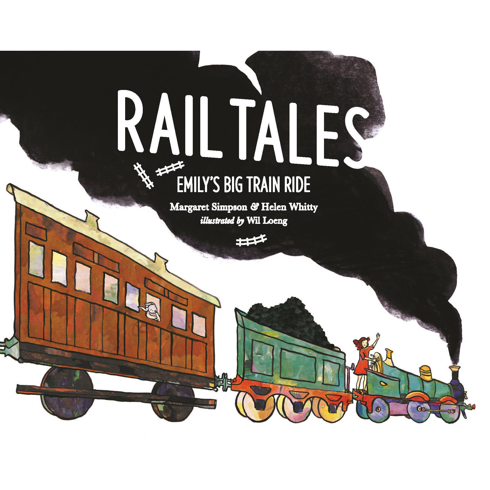 Book cover, Rail Tales: Emily's Big Train Ride.