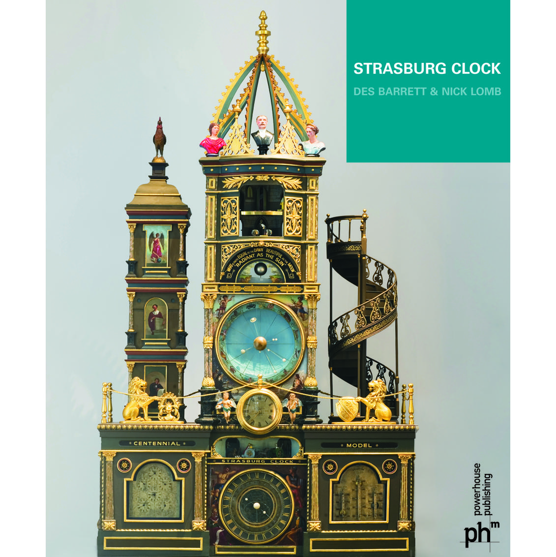 Booklet cover, Strasburg Clock by Des Barrett and Nick Lomb.