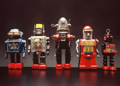 Home schooling _ ROBOTS 85'2573'55 00206729 Toy robot, 'Planet Robot', tin plate'plastic, made by 'KO', Japan, c. 1965.