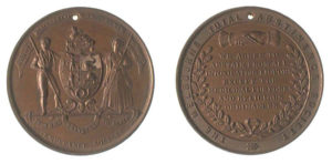 Medal issued by Melbourne Total Abstinence Society, Victoria, about 1890, Museum Victoria collection, NU 20239