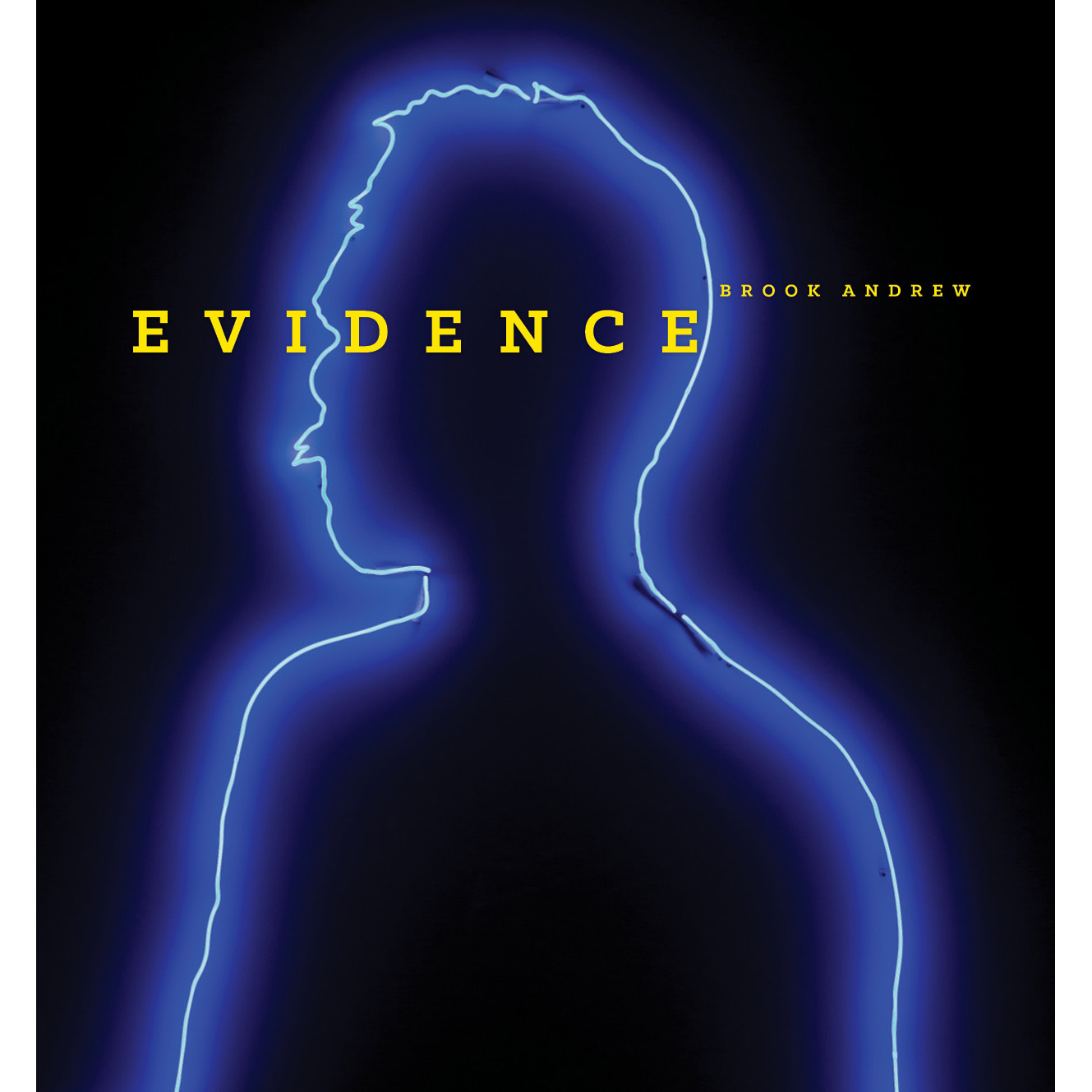 Book cover, Evidence: Brook Andrew.