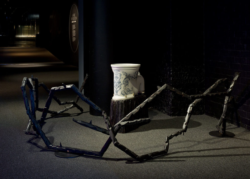 Installation view of Evidence: Brook Andrew, MAAS, 2015