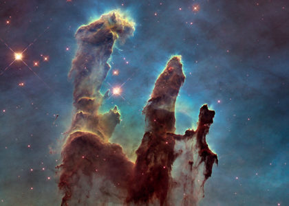 Photo of the Eagle Nebula's 'Pillars of Creation' by the Hubble Telescope