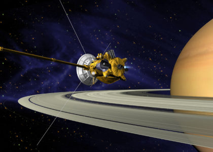 Cassini Spacecraft around Saturn