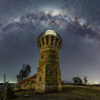 Photograph of Milky Way over Barrenjoey lighthouse