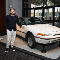 Tim Ross with the Museum's Ford Mercury Capri copy