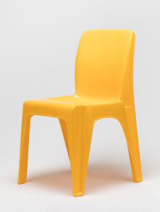 yellow plastic Integra chair
