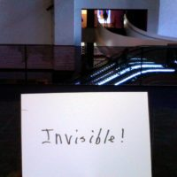 Sign that reads, invisible