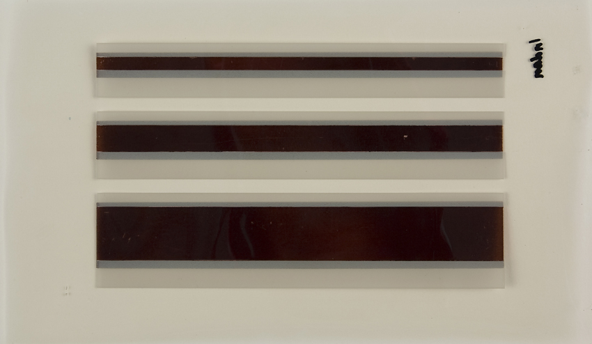 Printed solar cells appear as dark stripes on a white background.