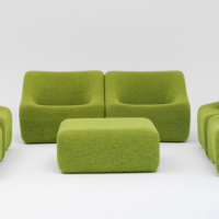 Vintage green couches