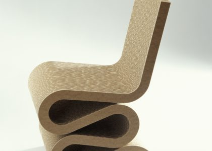 squigly shaped chair