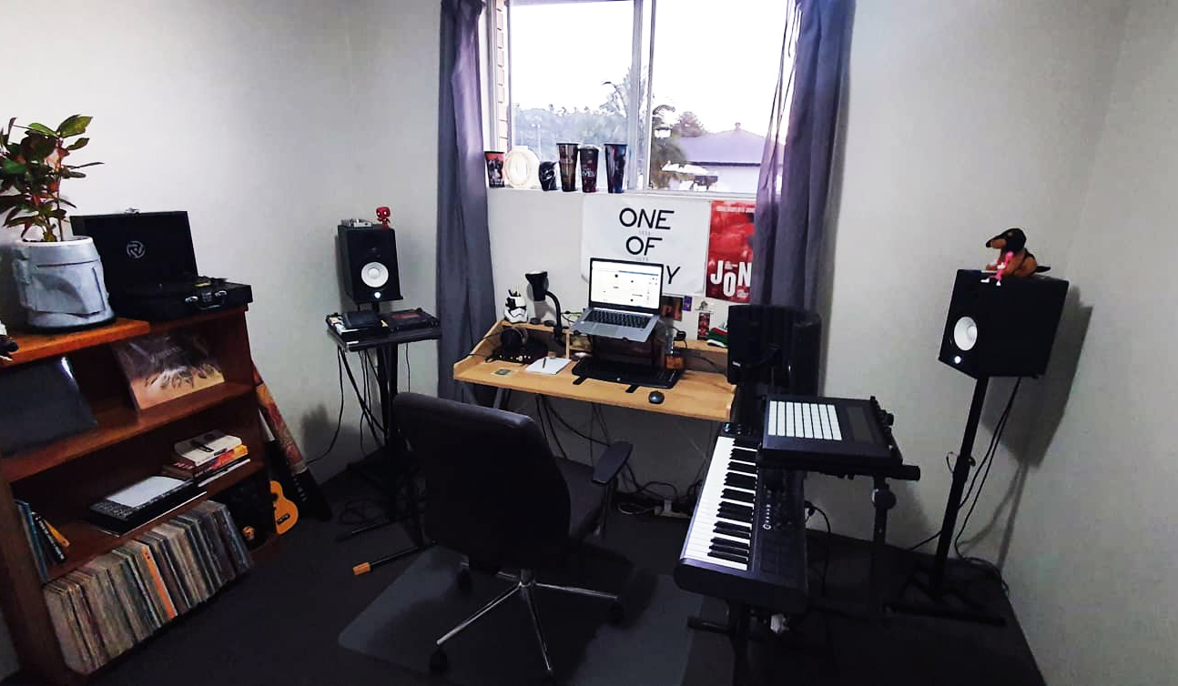Mr. Rhodes Lismore Studio set-up. Photo courtesy Mr. Rhodes.