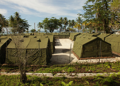 Tents at Manus Island regional processing facility 2012