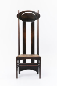 Chair designed for the Argyle Street Tearooms, Glasgow, by Charles Rennie Mackintosh in 1898-99, MAAS Collection.
