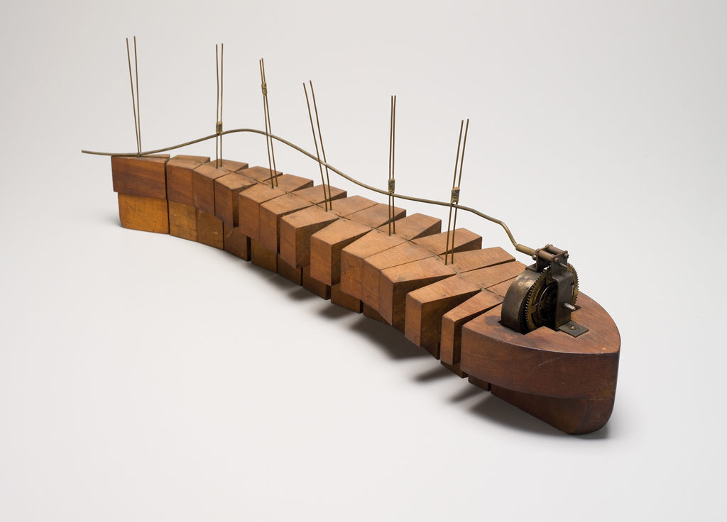 Trochoidal motion model ship made by Lawrence Hargrave, 1883, MAAS Collection.