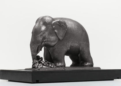 Graphite carved elephant made in Ceylon about 1875, MAAS Collection.