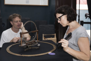 Kate Scardifield with Curator Andrew Jacob at Sydney Observatory