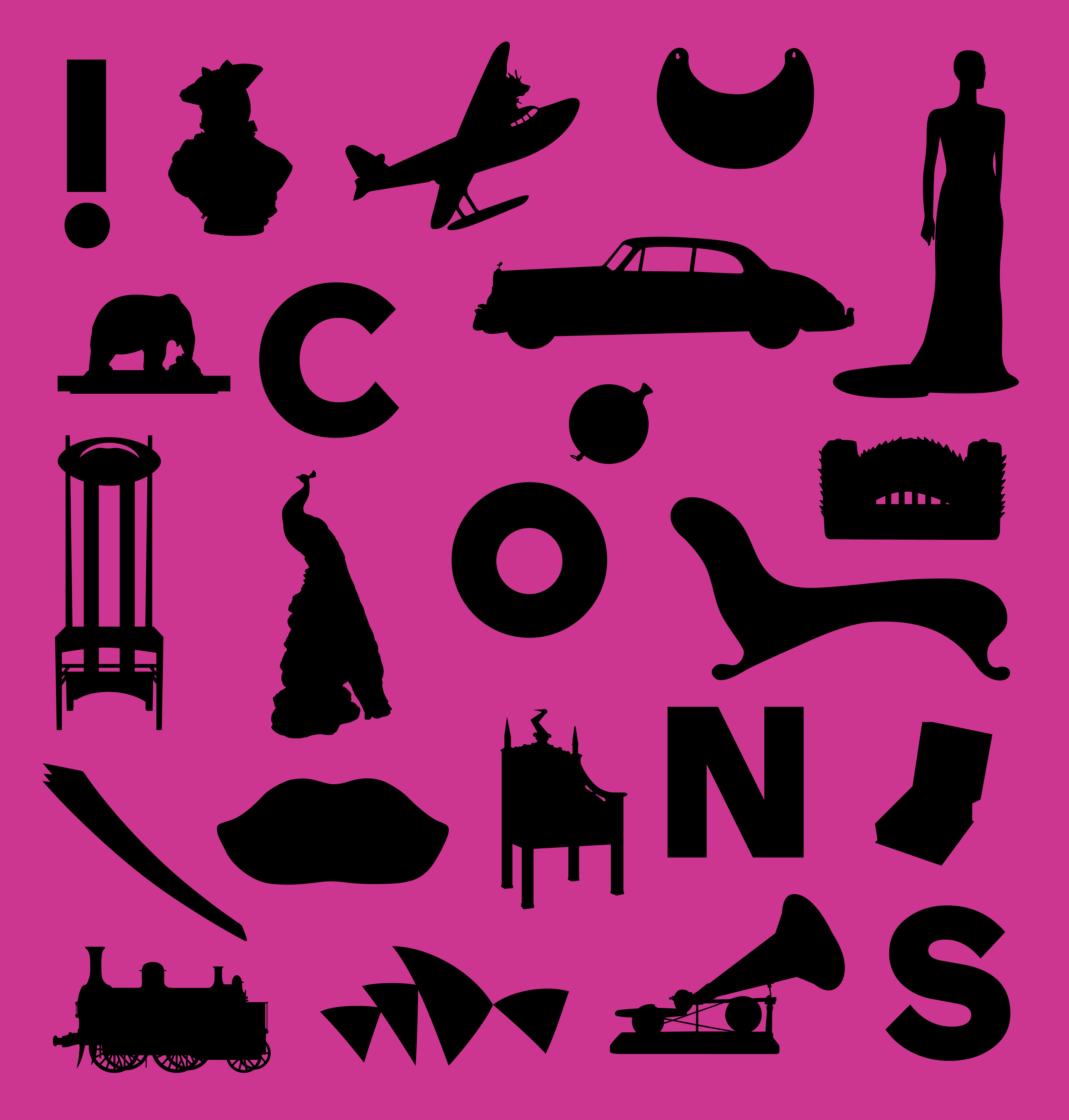 Cover of the Icons exhibition book