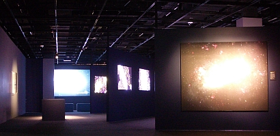 Part of the Beyond the Milky Way section of the FETTU exhibition, image Nick Lomb