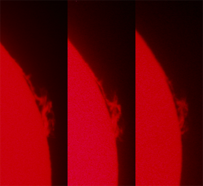 Sun produced a magnificent eruptive prominence Image by Geoff Wyatt and Andrew Jacob