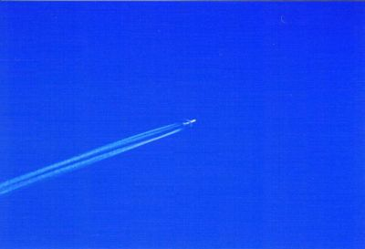 Aircraft Contrail against the sky