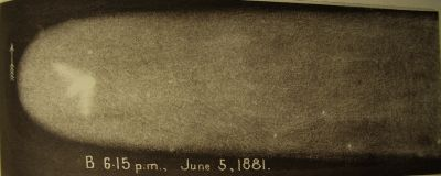 Great Comet 1881 drawing B by HC Russell_Sydney Observatory