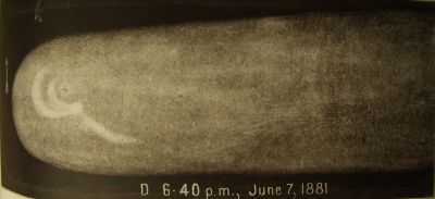 Great Comet 1881 drawing D by HC Russell_Sydney Observatory