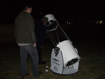 Setting up the new 40 cm telescope