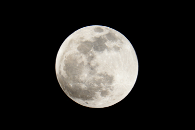 The beautiful full Moon on the rise