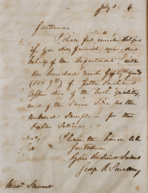 Letter from G R Smalley, 3 July 1866