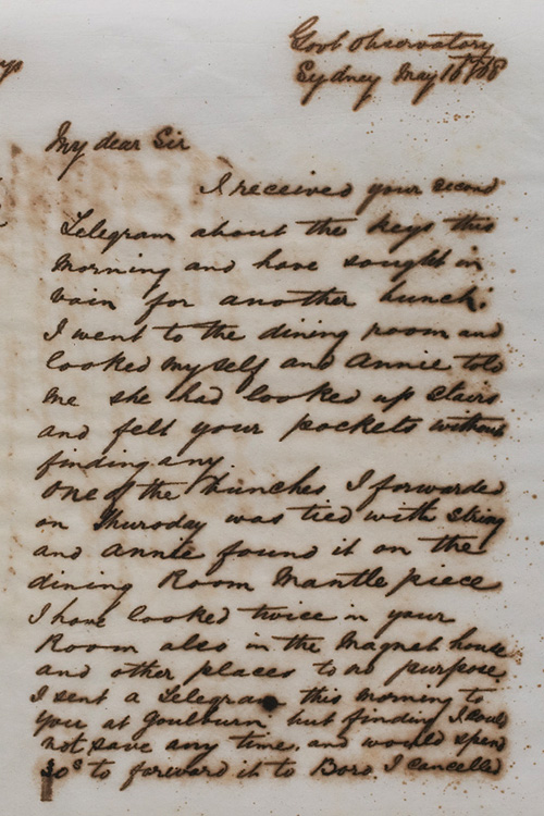 Letter by H C Russell, 16 May 1868