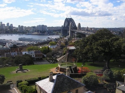 The view north from the Sydney Observatory time ball tower. Picture Roger Kinns