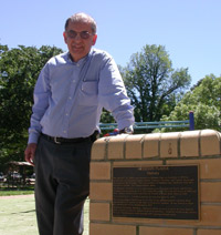 Nick Lomb, the author of 'Transit of Venus, 1631 to the present', at the site in Goulburn from where a Sydney Observatory team observed the 1874 transit