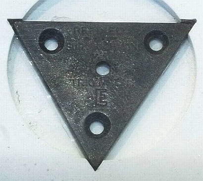 The small triangular marker for Trig Station E