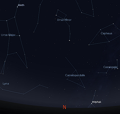 The northern sky over Anzac cove 3 am 25 April 1915
