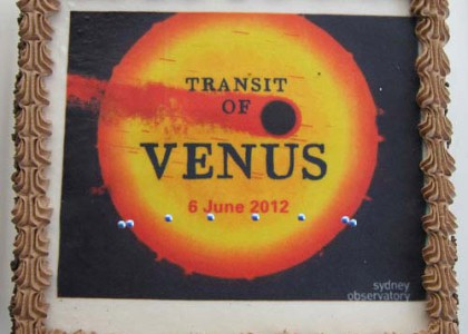 Transit of Venus cake for Sydney Observatory staff and volunteers; photo by Irma Havlicek