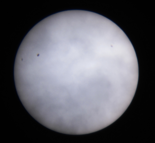 The Sun imaged through clouds on 5 October 2012