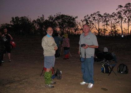 Col and John eagerly awaiting sunrise and the start of the eclipse