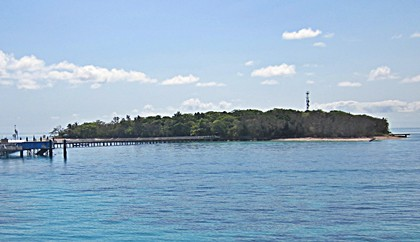 Green Island from the Coral Sea.