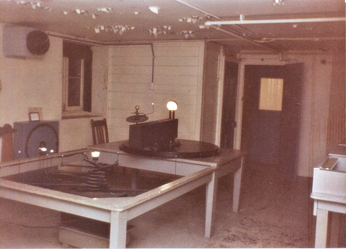 Looking north in Sydney Observatory's basement in about late 1982