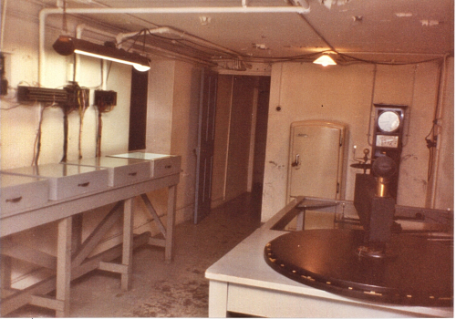 Looking south in Sydney Observatory's basement in about late 1982