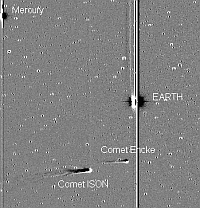 24_comets ISON and Encke near the Sun 20 to 23 Nov 2013_NASA