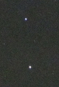 The pointer stars with Alpha Centauri on the bottom. Photo Nick Lomb