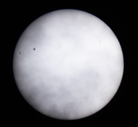 The Sun seen through cloud on 5 October 2012. Photo Nick Lomb