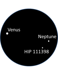 1_Venus and Neptune in one degree fov_Nick Lomb