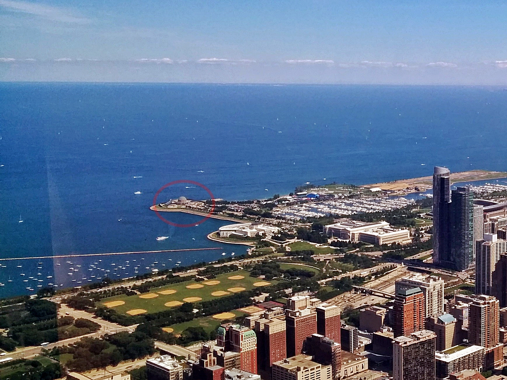 Adler Planetarium from Willis Tower